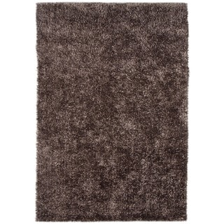 Warm Grey Solid Shag Rug (9' x 13')