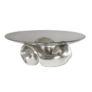 Uttermost Entwined Silver Leaf Bowl