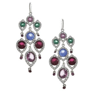 ABS by Allen Schwartz CZ Drama Multi Chandelier Earrings