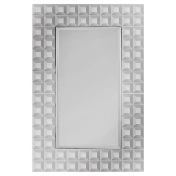 Hailey Beveled Geometric Mirror