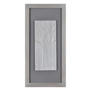 Patrick St. Germain 'Silver Forest II' Hand Painted Canvas