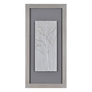 Patrick St. Germain 'Silver Forest I' Hand Painted Canvas