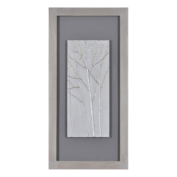 Ren Wil Patrick St. Germain 'Silver Forest I' Hand Painted Canvas