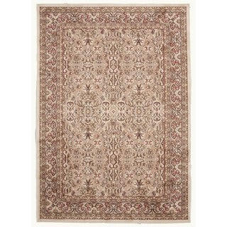 Traditional Beige/Brown Viscose/Chenille Oriental Rug (7'6