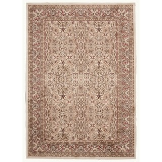Traditional Beige/Brown Viscose/Chenille Oriental Rug (9' x 12')
