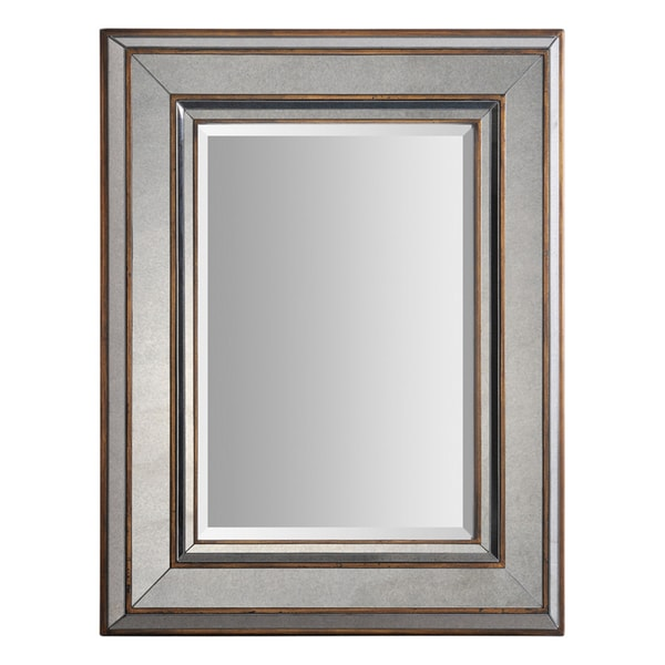 Keira 3-layer Bronze Metal-framed Mirror