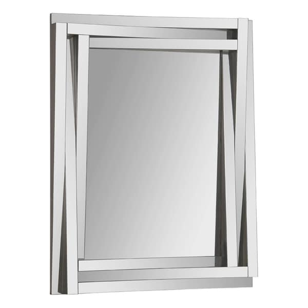 Delaney Staggered Glass-framed Mirror