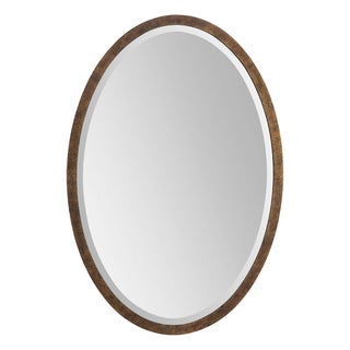 Eliza Bronze Metal-framed Oval Mirror