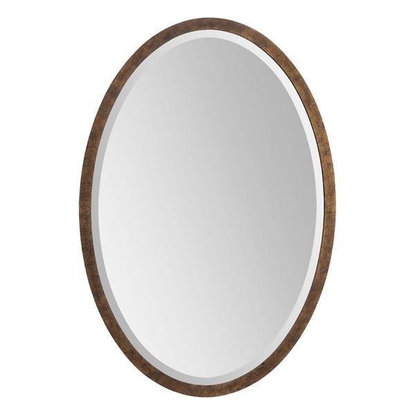 Eliza Bronze Metal-framed Oval Mirror