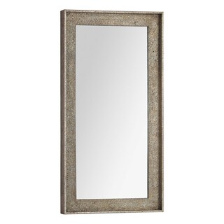 Bellevue Distressed Champagne Wood-framed Mirror