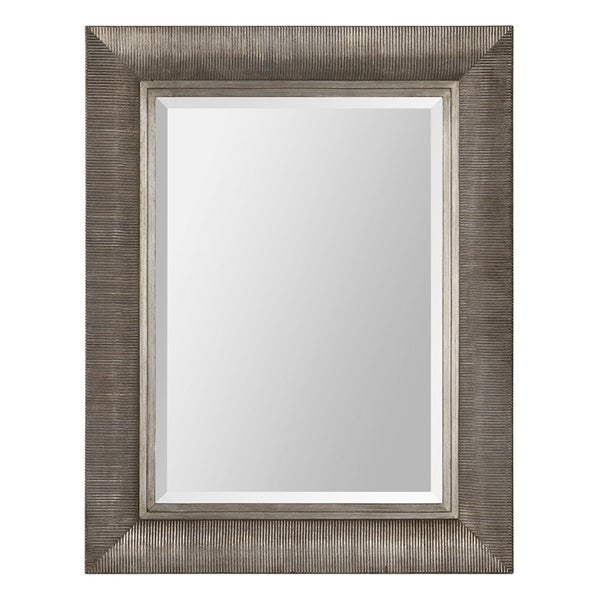 Taylor Ribbed Wood-framed Mirror