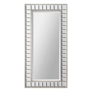Maggie Glass Cube/ Silver Leaf Metal-framed Mirror