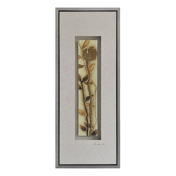 Lecavalier 'Shimmering Florals I' Hand-painted Canvas Art