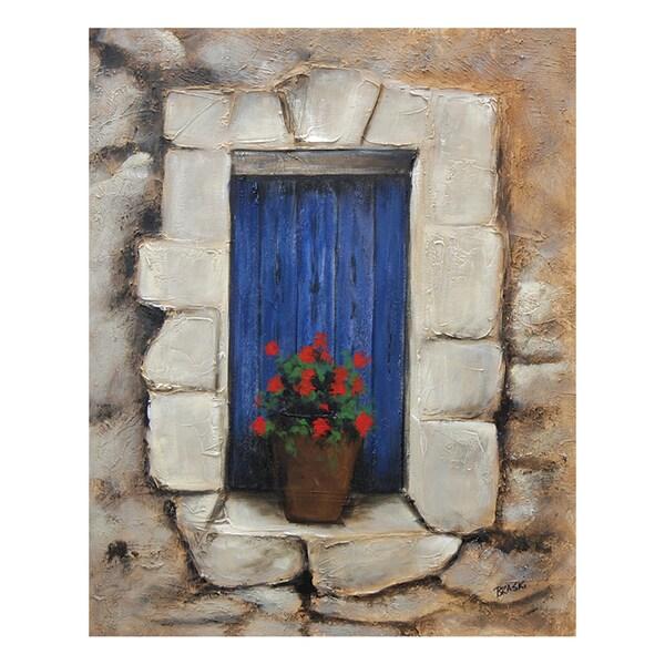 Braski 'Tuscan View' Hand-painted Canvas Art