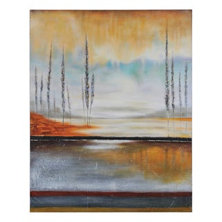 Stephane Fontaine 'Earth in Fall' Hand Painted Canvas