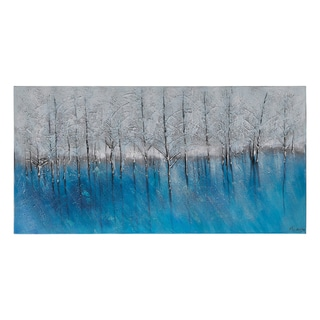 Ksenia Sizaya 'Forest of Blue' Hand Painted Canvas