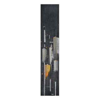 Elias Munoz 'Midnight City II' Hand Painted Canvas