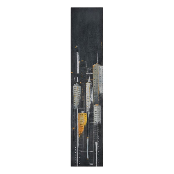 Elias Munoz 'Midnight City II' Hand Painted Canvas