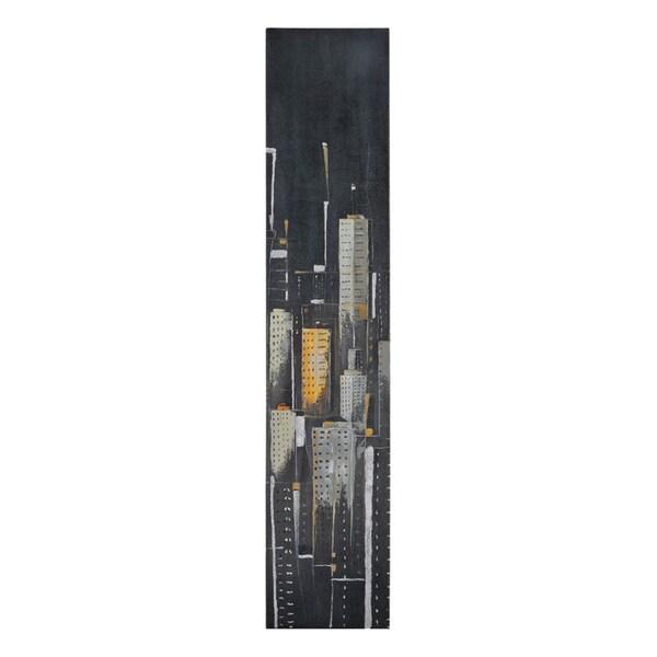Elias Munoz 'Midnight City I' Hand Painted Canvas