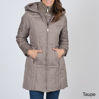 Vince Camuto Women's Double-zip Down Coat with Hood