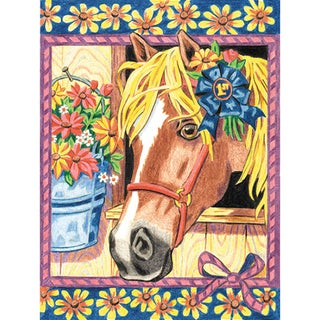 Pencil Works Color By Number Kit 9X12in-Blue Ribbon Pony