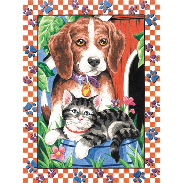 Pencil Works Color By Number Kit 9X12in-Animal Pets