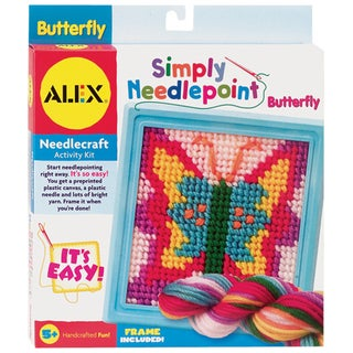 Simply Needlepoint Kits 6.5X6.5in-Butterfly