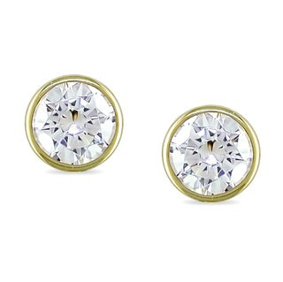 Miadora 10k Yellow Gold Cubic Zirconia Stud Earrings