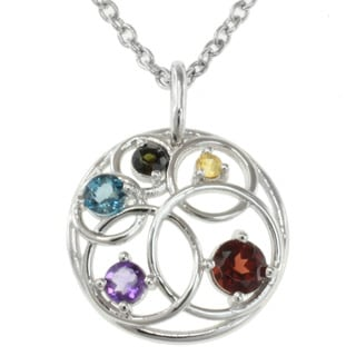 Michael Valitutti Sterling Silver Multi-gemstone Necklace