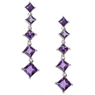 Michael Valitutti Sterling Silver Amethyst Earrings
