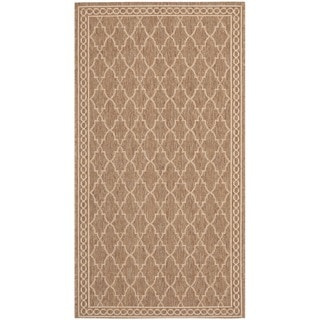 Safavieh Dark Beige/Beige Contemporary Indoor/Outdoor Rug