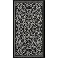 Poolside Black/ Sand Indoor Outdoor Rug (2' x 3'7)