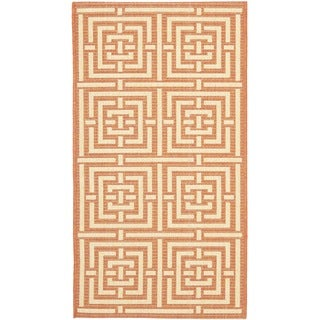 Safavieh Poolside Terracotta/ Cream Indoor Outdoor Rug (2' x 3'7)