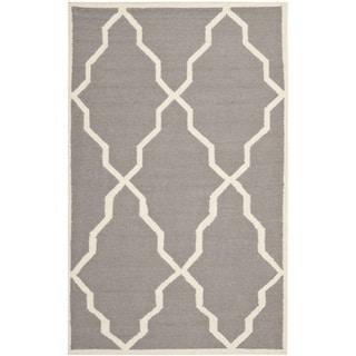 Safavieh Handwoven Moroccan Dhurrie Gray Wool Rug
