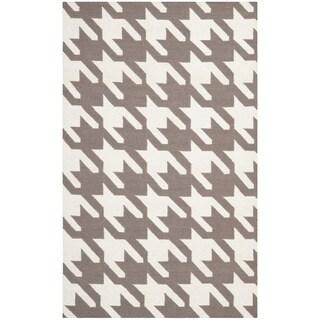 Safavieh Hand-woven Moroccan Dhurrie Grey Wool Rug
