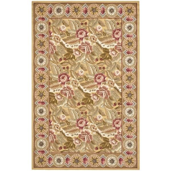 Safavieh Hand-hooked Chelsea Floral Wool Rug (5'3 x 8'3)