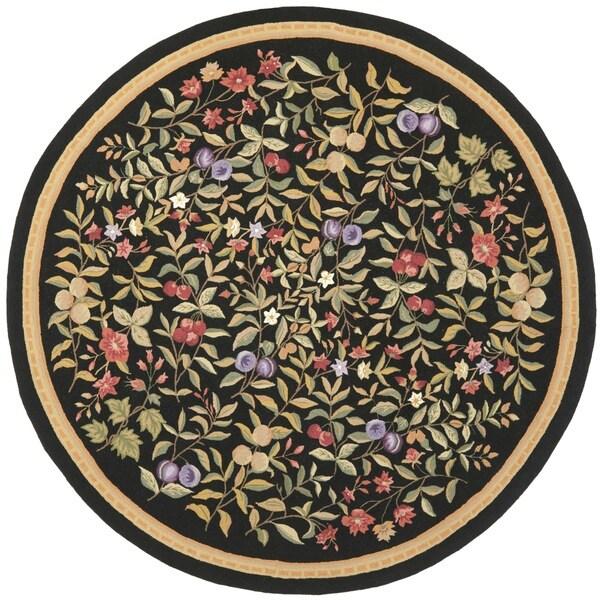 Safavieh Hand-hooked Garden Black Wool Rug (8' Round)