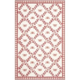 Safavieh Hand-hooked Bumblebee Ivory/ Rose Wool Rug