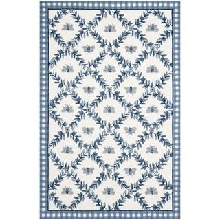 Safavieh Hand-hooked Bumblebee Ivory/ Blue Wool Rug