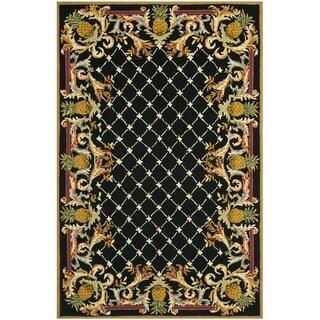 Safavieh Hand-hooked Chelsea Pineapples Black/ Multi Wool Rug