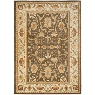 Safavieh Oushak Brown/ Cream Powerloomed Rug