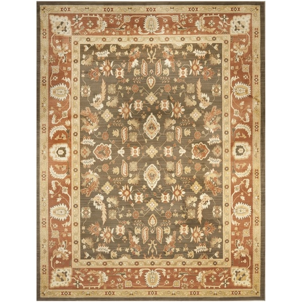 Safavieh Oushak Brown/ Rust Powerloomed Rug