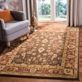 Oushak Brown/ Rust Powerloomed Rug