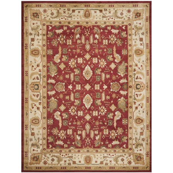 Safavieh Oushak Red/ Cream Powerloomed Rug