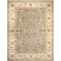 Oushak Blue/ Cream Powerloomed Rug