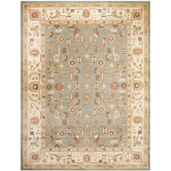 Safavieh oushak green cream powerloomed rug 14977554 for Green and cream rugs