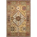 Handmade Persian Legend Multi/ Rust Wool Rug
