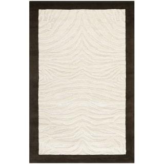 Safavieh Handmade Zebra Ivory New Zealand Wool Rug (5'x 8')