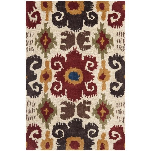 Safavieh Handmade Festive Ivory New Zealand Wool Rug (2' x 3')