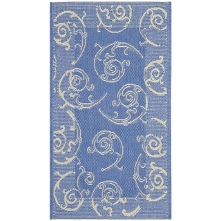 Safavieh Blue/ Natural Indoor Outdoor Rug (2' x 3'7)